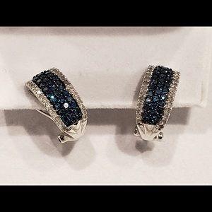 Diamond and blue sapphire earrings - gorgeous!!!